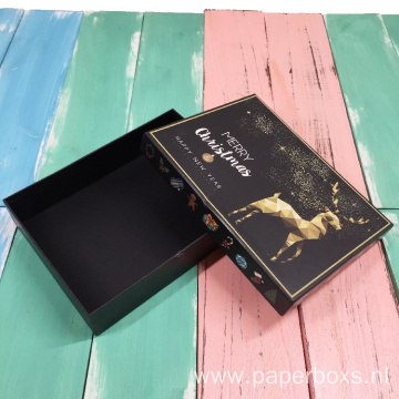 Customized Luxury Christmas Packaging Paper Box With Bag